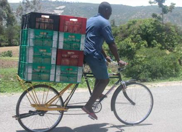 Projeto de bicicleta de garupa ampliada, que pode suportar o transporte de carga pesada