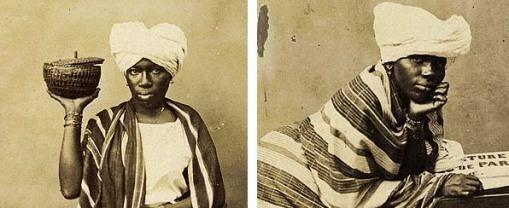 Fotografias de vendedora e quitandeira da Bahia de 1862