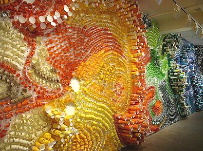 copos coloridos vira arte