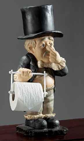 segurador de papel higiênico