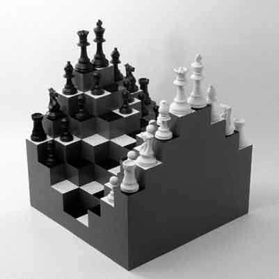 xadrez em 3d