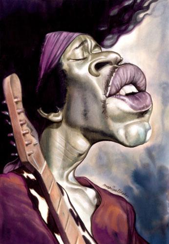 Jimi Hendrix por Mario Alberto